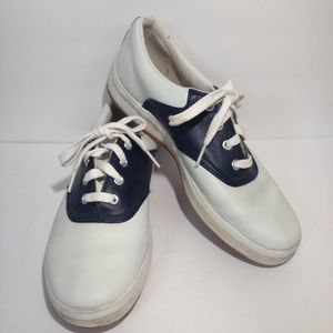 [Keds] white leather 8 tennis shoes sneakers